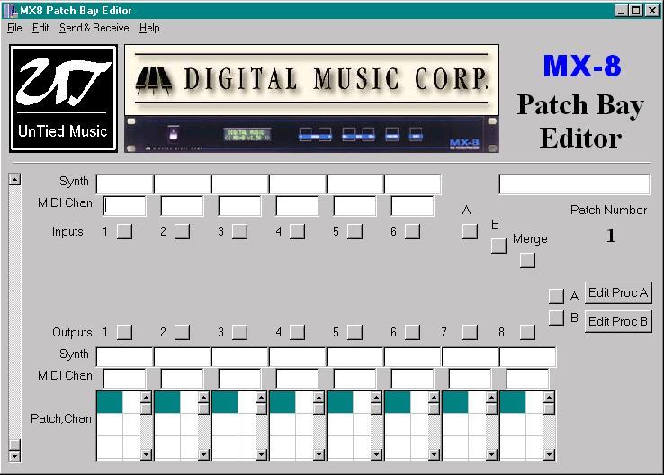 MX8 MIDI PatchBay Editor